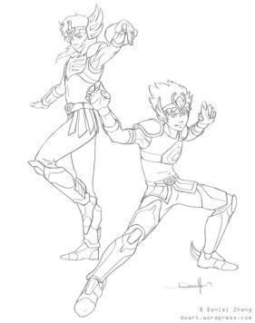 Saintseiya sketch_8-26-09