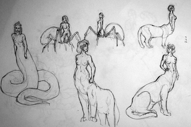 Half Human Half Animal Drawing Half-human, half-animal